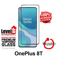 Brando Workshop Full Screen Coverage Glass Protector (OnePlus 8T) - Black