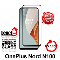 Brando Workshop Full Screen Coverage Glass Protector (OnePlus Nord N100) - Black