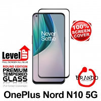 Brando Workshop Full Screen Coverage Glass Protector (OnePlus Nord N10 5G) - Black