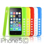 Drilled Hole Silicone Case for iPhone 5c