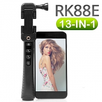 RK88E 13-in-1 Bluetooth Selfie Stick Kit