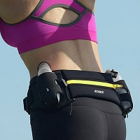 ROMIX Lumbar Running Belt With 2 Water Bottles Holder