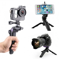 2-in-1 Mini Desktop Handheld Grip Tripod Stand
