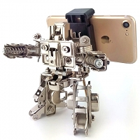 DIY Metal Mini Robot Smartphone Holder