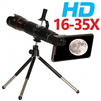 Universal 16-35X Zoom HD Telescope with Tripod Stand