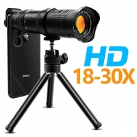 Universal 18-30X Zoom HD Telescope with Tripod Stand