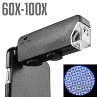 iPhone 6 60X-100X UltraClear Magnifying Microscope with Back Cover and Brightness LED