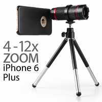 Professional iPhone 6 Plus / 6s Plus 4-12x Zoom Telescope with Tripod Stand