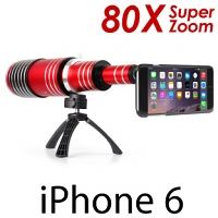 iPhone 6 Super Spy Ultra High Power Zoom 80X Telescope with Tripod Stand