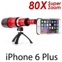 iPhone 6 Plus / 6s Plus Super Spy Ultra High Power Zoom 80X Telescope with Tripod Stand