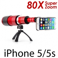 iPhone 5 / 5s / SE Super Spy Ultra High Power Zoom 80X Telescope with Tripod Stand