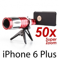 iPhone 6 Plus / 6s Plus Super Spy Ultra High Power Zoom 50X Telescope with Tripod Stand