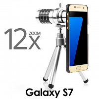 Professional Samsung Galaxy S7 12x Zoom Telescope with Tripod Stand