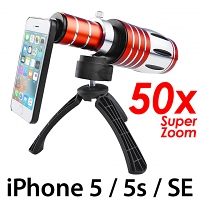 iPhone 5 / 5s / SE Super Spy Ultra High Power Zoom 50X Telescope with Tripod Stand