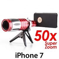 iPhone 7 Super Spy Ultra High Power Zoom 50X Telescope with Tripod Stand