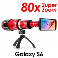 Samsung Galaxy S6 Super Spy Ultra High Power Zoom 80X Telescope with Tripod Stand