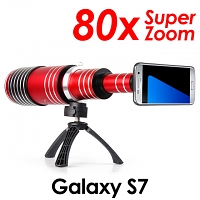 Samsung Galaxy S7 Super Spy Ultra High Power Zoom 80X Telescope with Tripod Stand