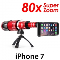 iPhone 7 Super Spy Ultra High Power Zoom 80X Telescope with Tripod Stand