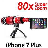iPhone 7 Plus Super Spy Ultra High Power Zoom 80X Telescope with Tripod Stand