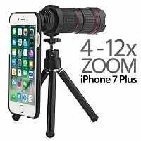 Professional iPhone 7 Plus 4-12x Zoom Telescope with Tripod Stand