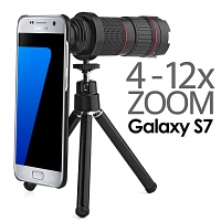 Professional Samsung Galaxy S7 4-12x Zoom Telescope with Tripod Stand