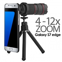 Professional Samsung Galaxy S7 edge 4-12x Zoom Telescope with Tripod Stand
