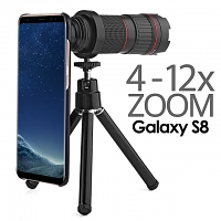 Professional Samsung Galaxy S8 4-12x Zoom Telescope with Tripod Stand