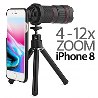 Professional iPhone 8 4-12x Zoom Telescope with Tripod Stand