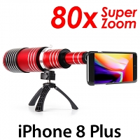 iPhone 8 Plus Super Spy Ultra High Power Zoom 80X Telescope with Tripod Stand