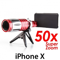iPhone X Super Spy Ultra High Power Zoom 50X Telescope with Tripod Stand
