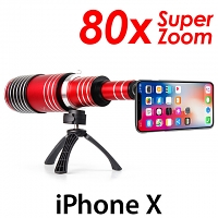 iPhone X Super Spy Ultra High Power Zoom 80X Telescope with Tripod Stand
