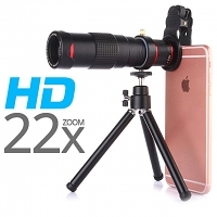 Portable Clip-On Universal Professional 22x Zoom Telescope with Tripod Stand