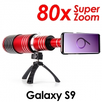 Samsung Galaxy S9 Super Spy Ultra High Power Zoom 80X Telescope with Tripod Stand