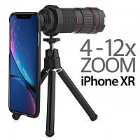 Professional iPhone XR (6.1) 4-12x Zoom Telescope with Tripod Stand
