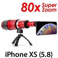 iPhone XS (5.8) Super Spy Ultra High Power Zoom 80X Telescope with Tripod Stand