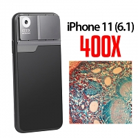 iPhone 11 (6.1) 400X UltraClear Magnifying Microscope with Back Cover and Brightness LED