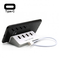 4-Port Hub Type-C OTG Dock with Smartphone Stand