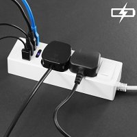 4-Port USB Power Adapter with 2 Power Socket