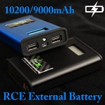 RCE External Battery - Aluminum Alloy Edition (BT01 Panasonic - 10200mAh) (BT02 Samsung - 9000mAh)