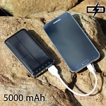 Dual USB Solar Portable Power Bank - 5000mAh