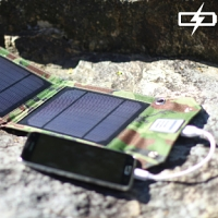 Foldable Camouflage 5W Solar Charger - 1000mA