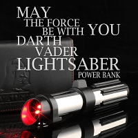 Star Wars Darth Vader Lightsaber Portable Battery Charger II (6,000mAh)