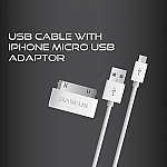 USB Cable w/ iPhone Micro USB Adaptor