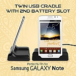 OEM Samsung Galaxy Note Twin USB Cradle with 2nd Battery Slot