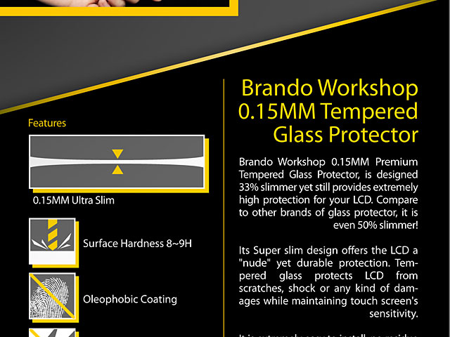 Brando Workshop 0.15mm Premium Tempered Glass Protector (iPhone XS (5.8))