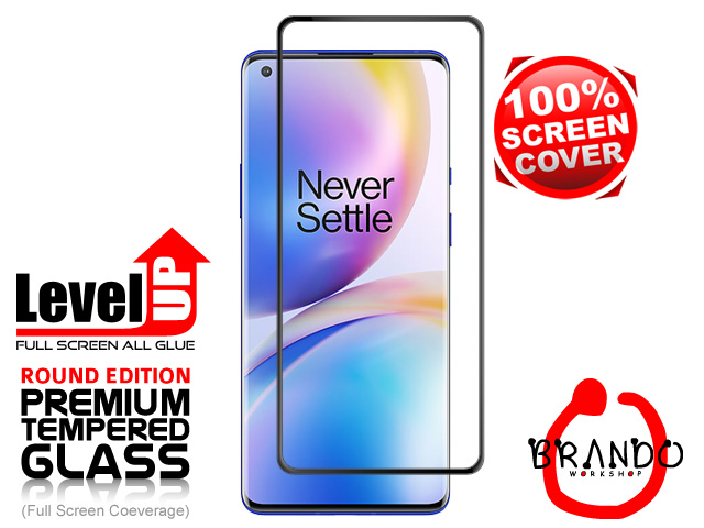 Brando Workshop Full Screen Coverage Glass Protector (OnePlus 8 Pro) - Black