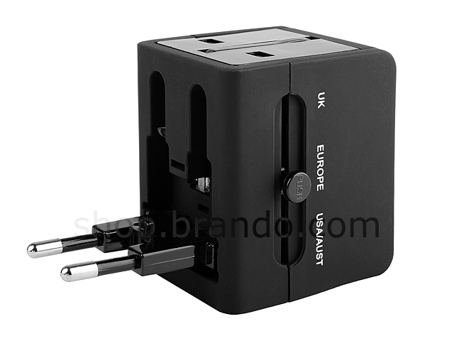 Universal Travel Adapter with Dual USB AC Charger