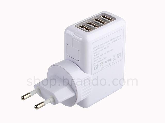 Four Port USB AC Power Adapter