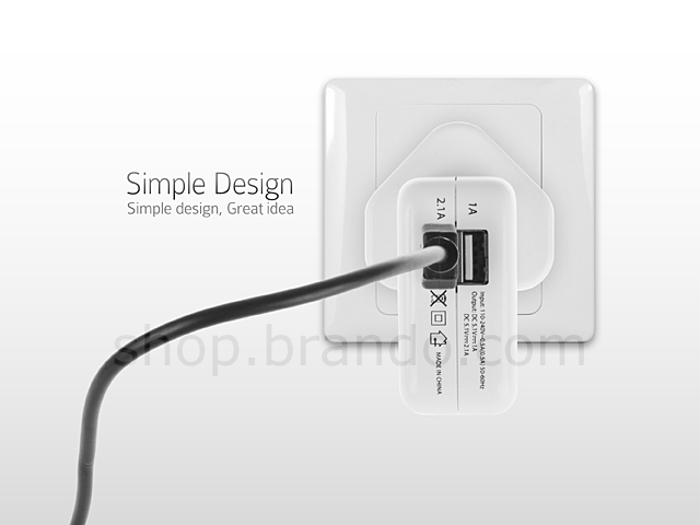 Two-Port USB Charger with LED charging display