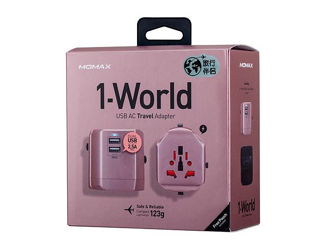 Momax 1 World Usb Ac Travel Adapter